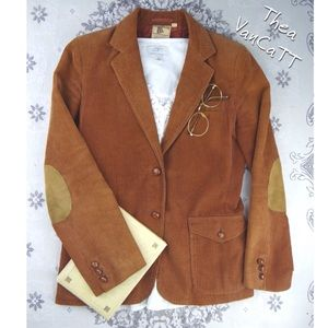 VINTAGE - HAPPY LEGS - Corduroy Scholarly Blazer!